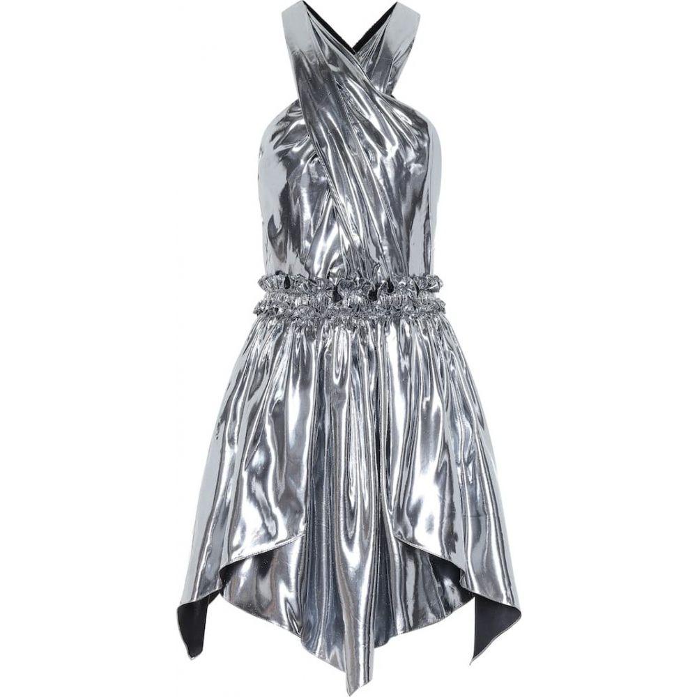 イザベル マラン Isabel Marant レディース ワンピース ワンピース・ドレス【Kary metallic silk-blend minidress】Silver