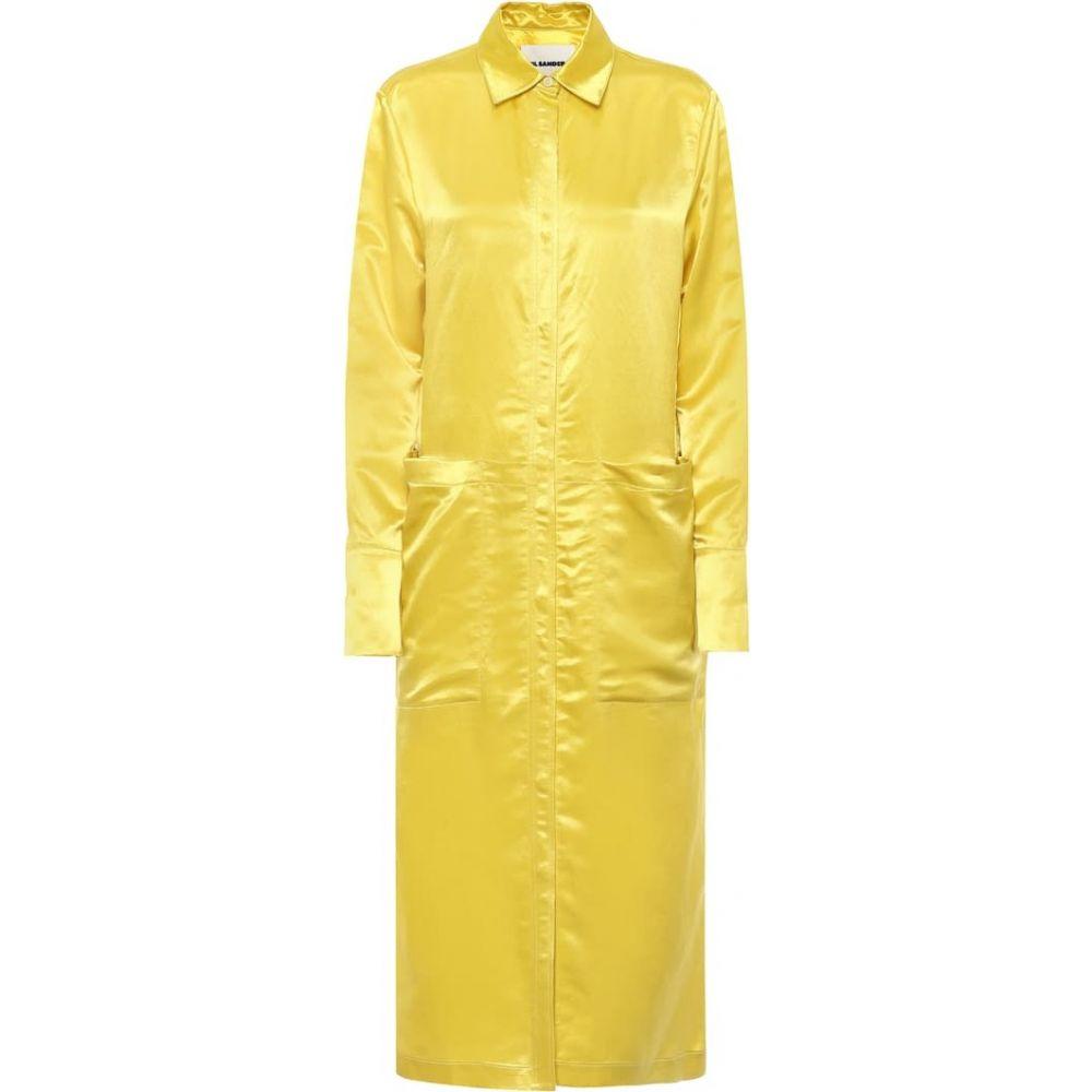 ジル サンダー Jil Sander レディース ワンピース シャツワンピース ワンピース・ドレス【Satin shirtdress】Gold