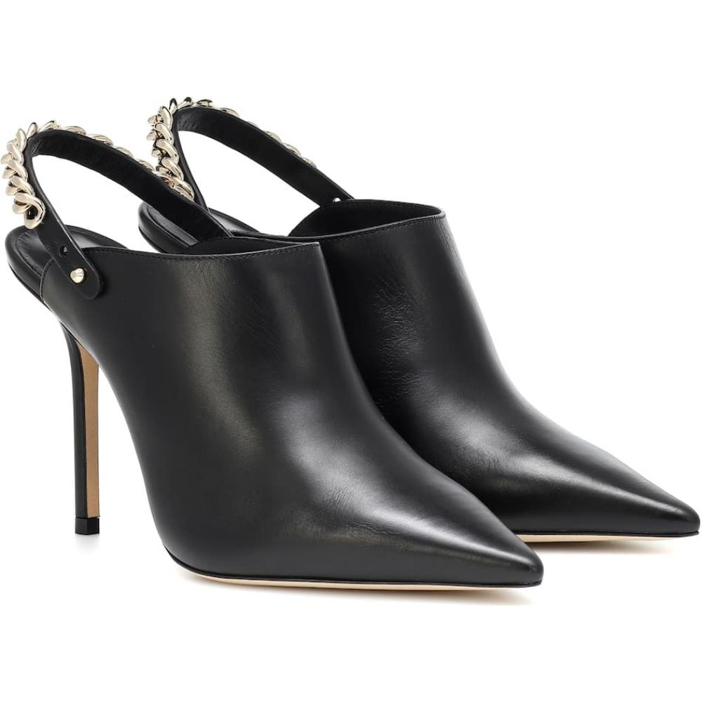 ジミー チュウ Jimmy Choo レディース サンダル・ミュール シューズ・靴【Lexx 100 leather mules】Black/Gold