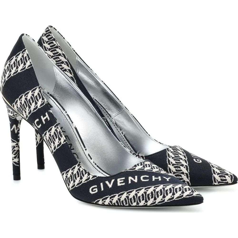 ジバンシー Givenchy レディース パンプス シューズ・靴【Logo jacquard pumps】Navy/White