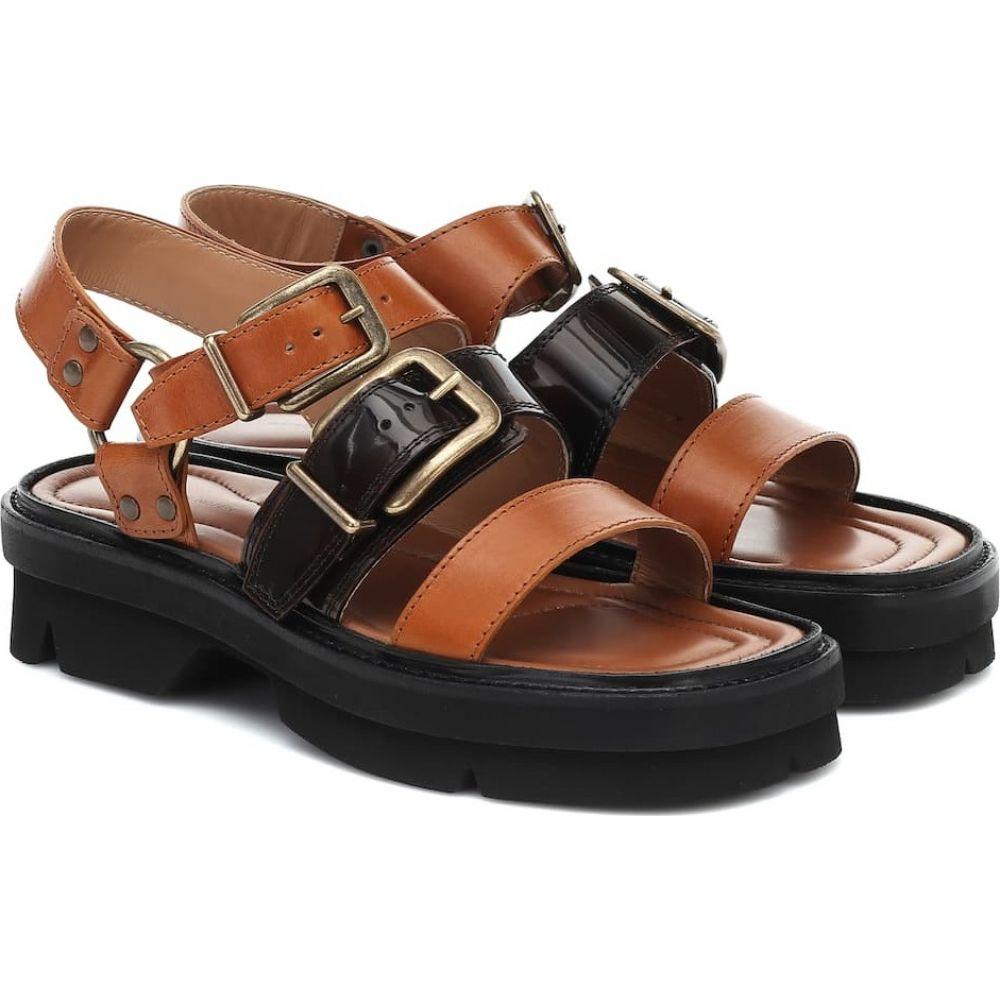 ドリス ヴァン ノッテン Dries Van Noten レディース サンダル・ミュール シューズ・靴【Leather sandals】Tan
