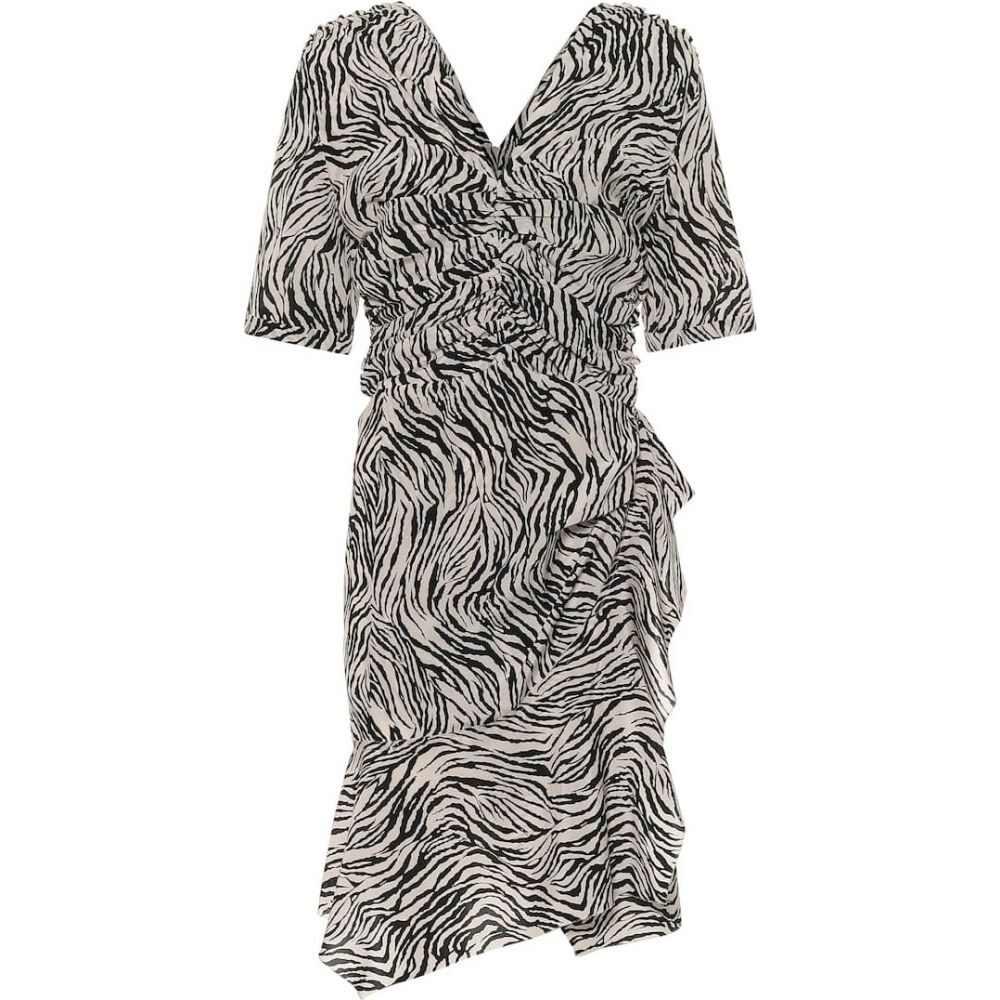イザベル マラン Isabel Marant レディース ワンピース ワンピース・ドレス【Arodie stretch-silk minidress】Ecru Black
