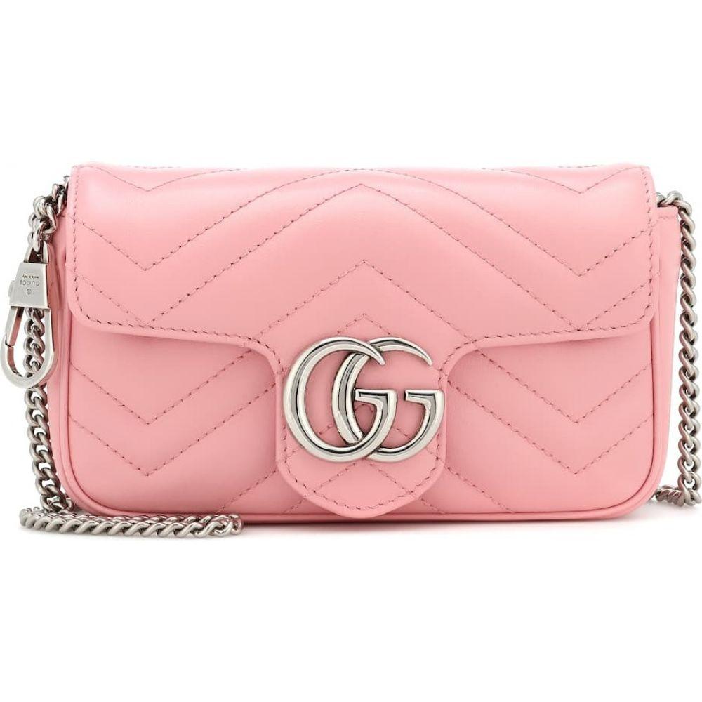 グッチ Gucci レディース ショルダーバッグ バッグ【GG Marmont Super Mini leather shoulder bag】Wild Rose