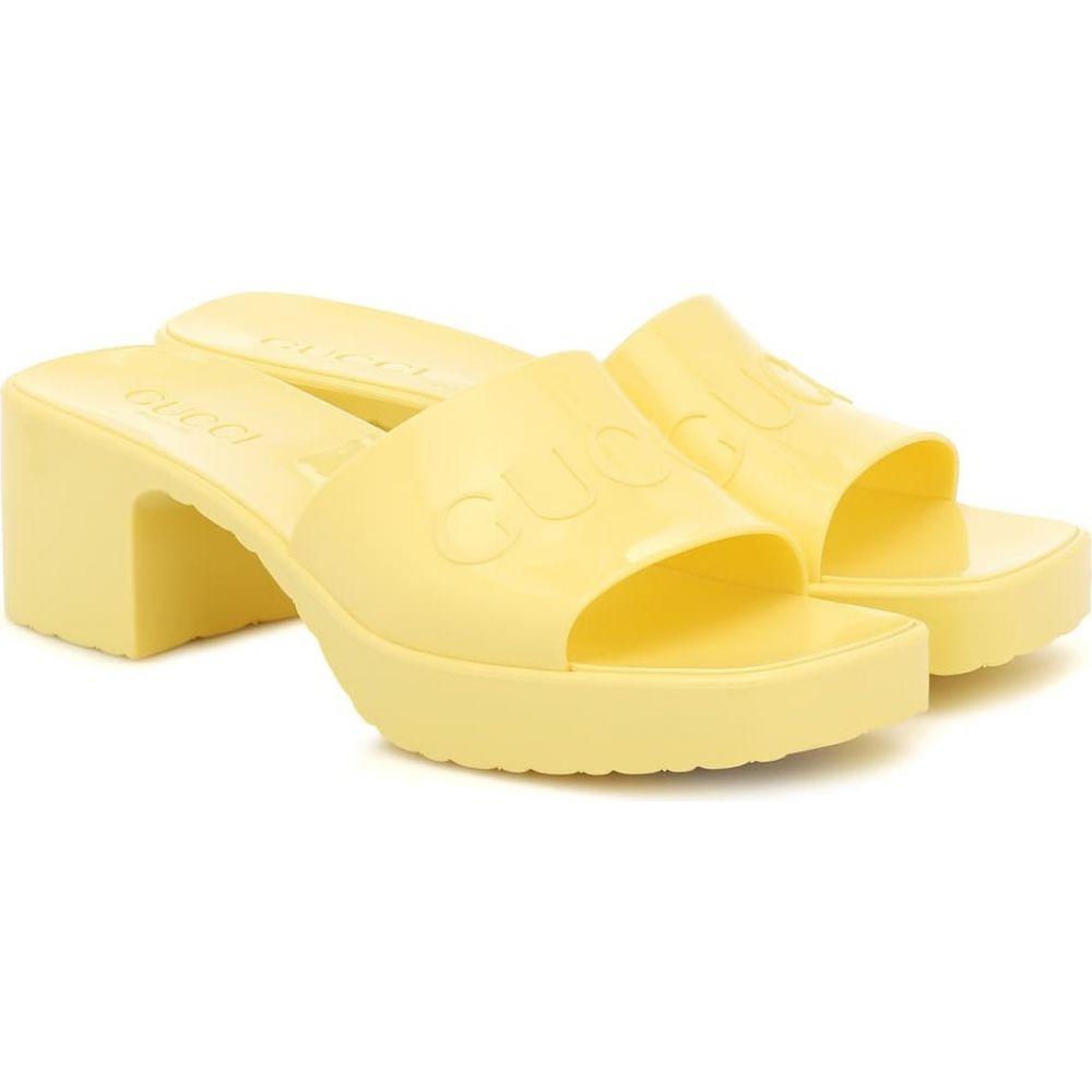 グッチ Gucci レディース サンダル・ミュール シューズ・靴【Logo rubber platform sandals】Banana