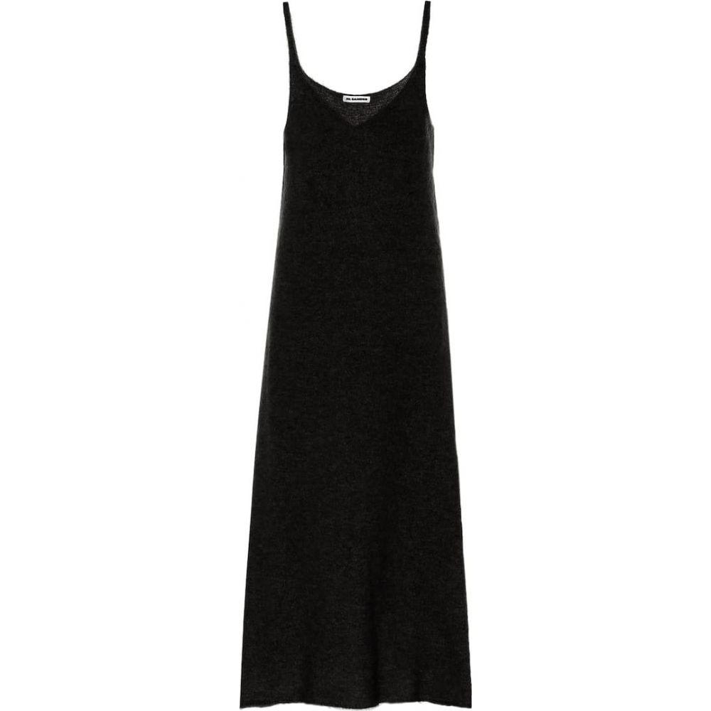 ジル サンダー Jil Sander レディース ワンピース スリップドレス ワンピース・ドレス【Mohair-blend knit slip dress】Black