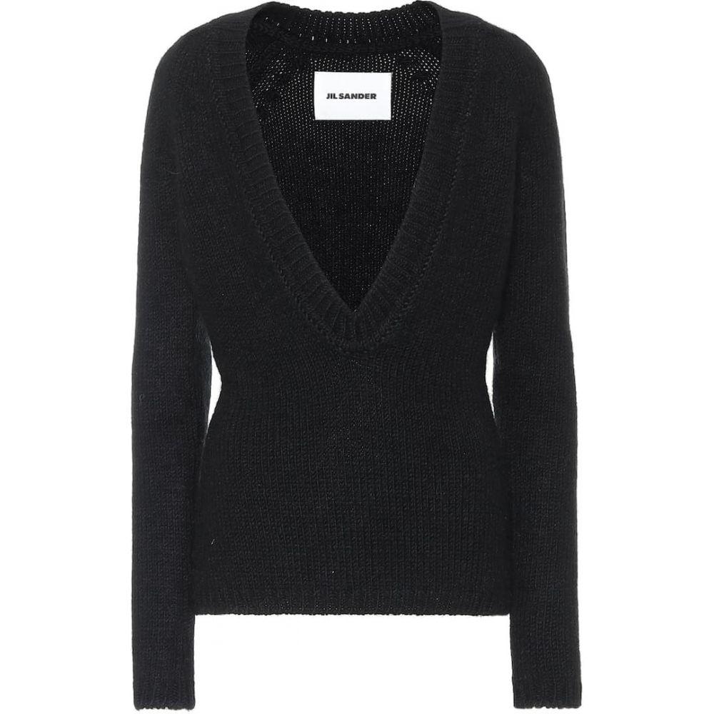ジル サンダー Jil Sander レディース ニット・セーター トップス【Slim-fit wool-blend sweater】Black