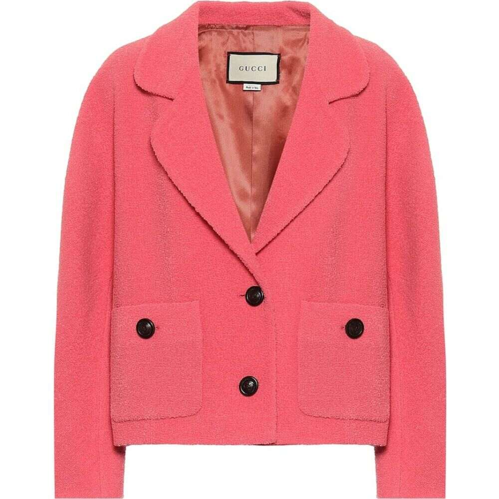 グッチ Gucci レディース ジャケット アウター【Tweed wool-blend jacket】Pink/Mix