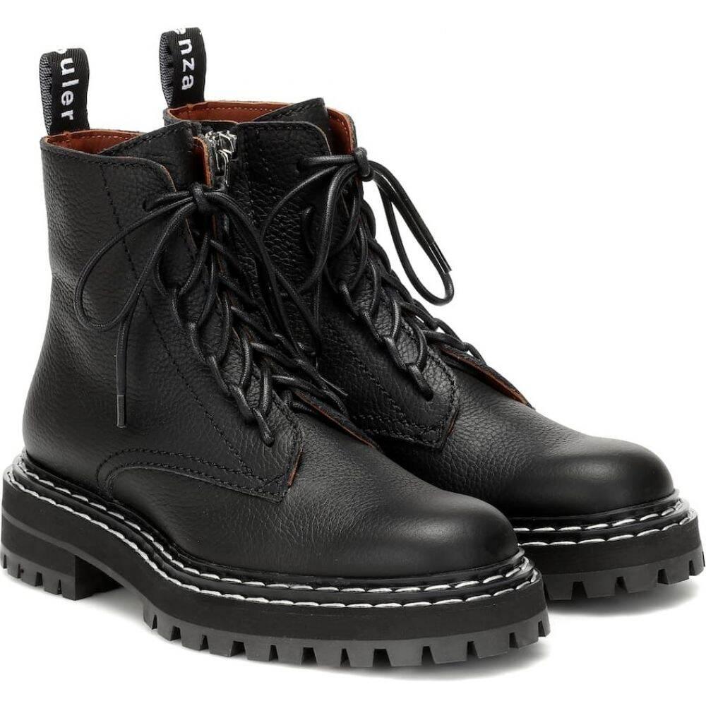 プロエンザ スクーラー Proenza Schouler レディース ブーツ ショートブーツ レースアップブーツ シューズ・靴【Leather lace-up ankle boots】Black
