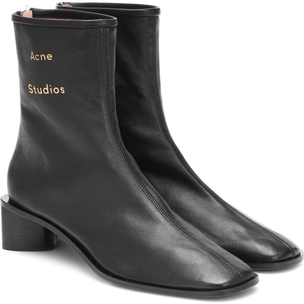 アクネ ストゥディオズ Acne Studios レディース ブーツ ショートブーツ シューズ・靴【Leather ankle boots】Black/Black