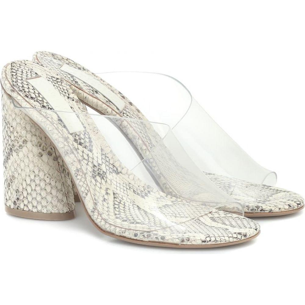 メルセデス カステロ Mercedes Castillo レディース サンダル・ミュール シューズ・靴【Kuri snake-effect leather sandals】Clear/Natural