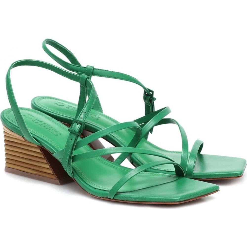 メルセデス カステロ Mercedes Castillo レディース サンダル・ミュール シューズ・靴【Kelise leather sandals】Grass Green