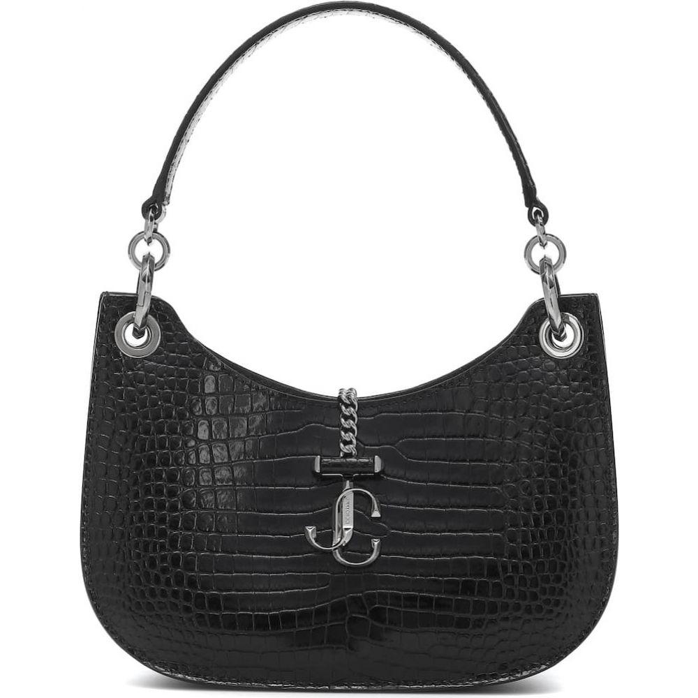 ジミー チュウ Jimmy Choo レディース ショルダーバッグ バッグ【Varenne Hobo Small leather shoulder bag】Black