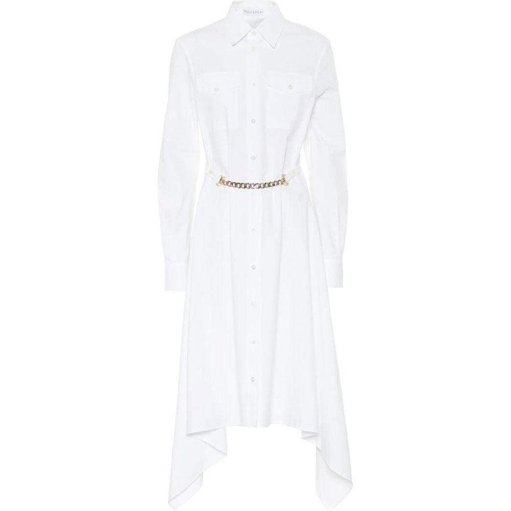 J.W.アンダーソン JW Anderson レディース ワンピース シャツワンピース ワンピース・ドレス【Asymmetric cotton shirt dress】White