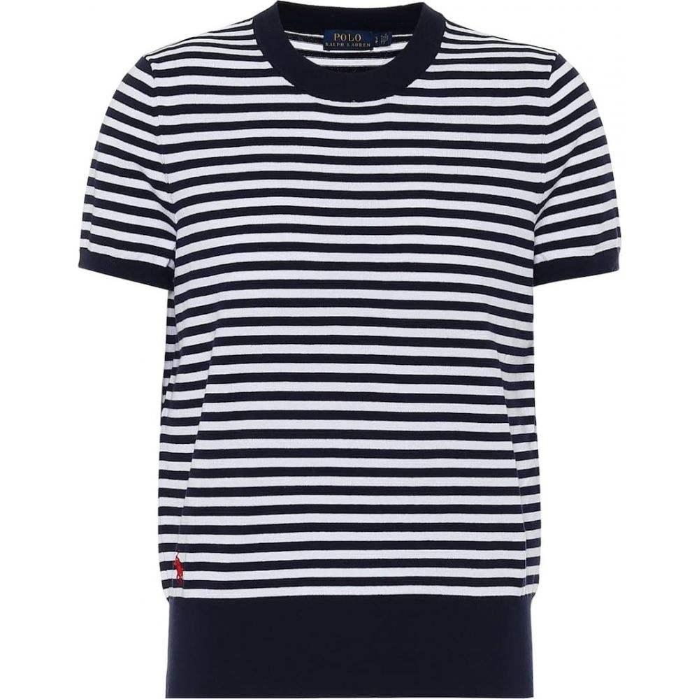 ラルフ ローレン Polo Ralph Lauren レディース Tシャツ トップス【striped cotton-blend t-shirt】Bright Navy/White