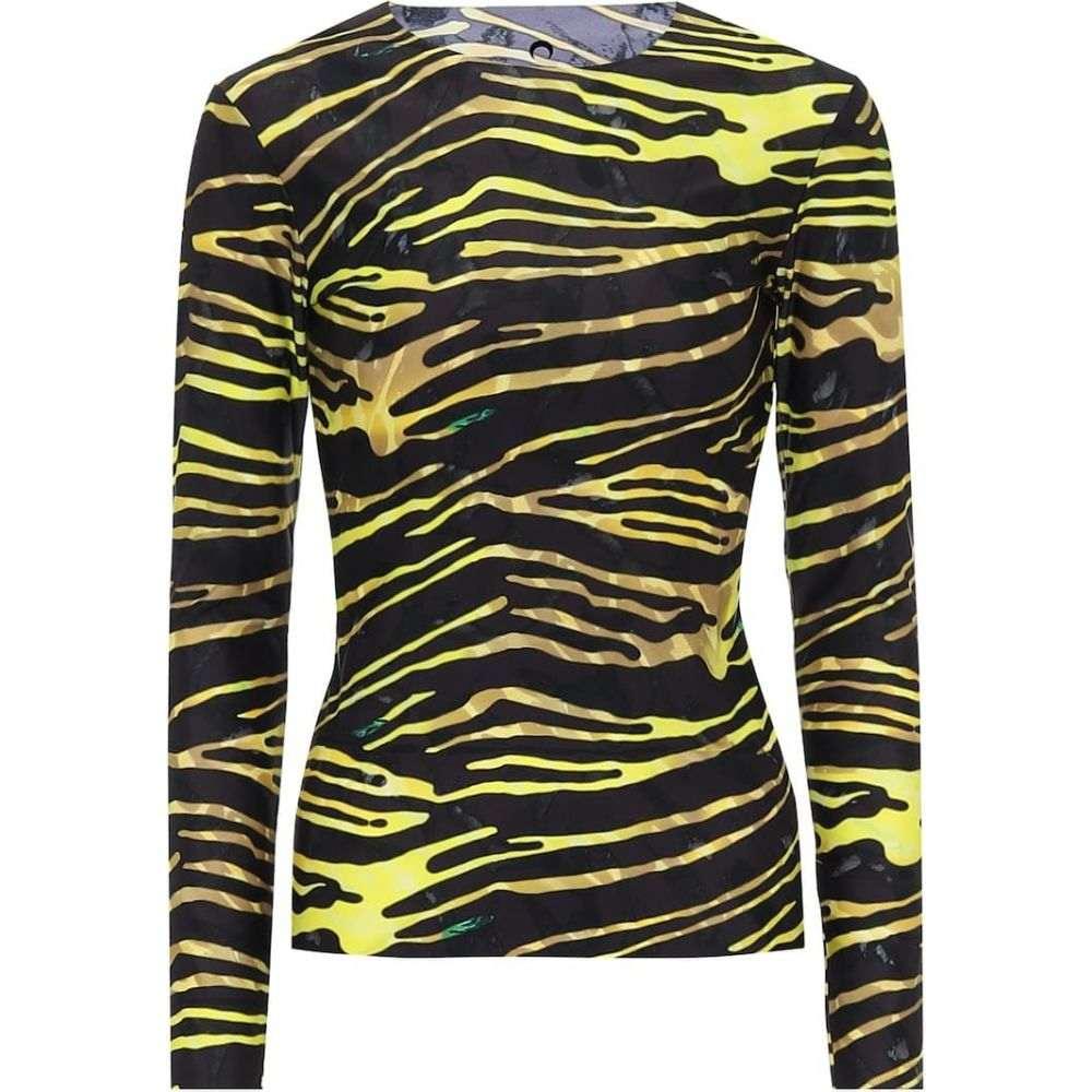 マリーン セル Marine Serre レディース トップス 【zebra-print stretch-jersey top】Amphibian Zebra