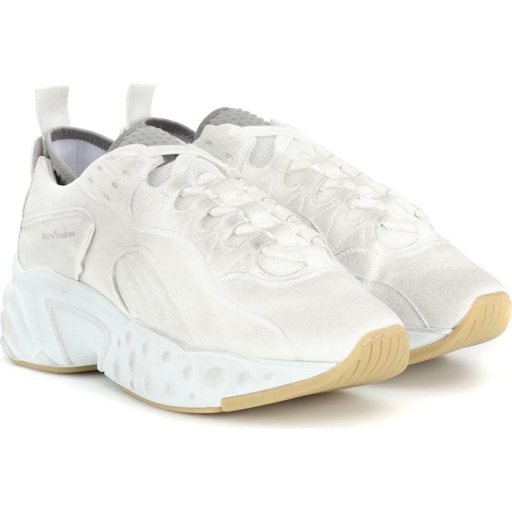 アクネ ストゥディオズ Acne Studios レディース スニーカー シューズ・靴【manhattan tumbled sneakers】White