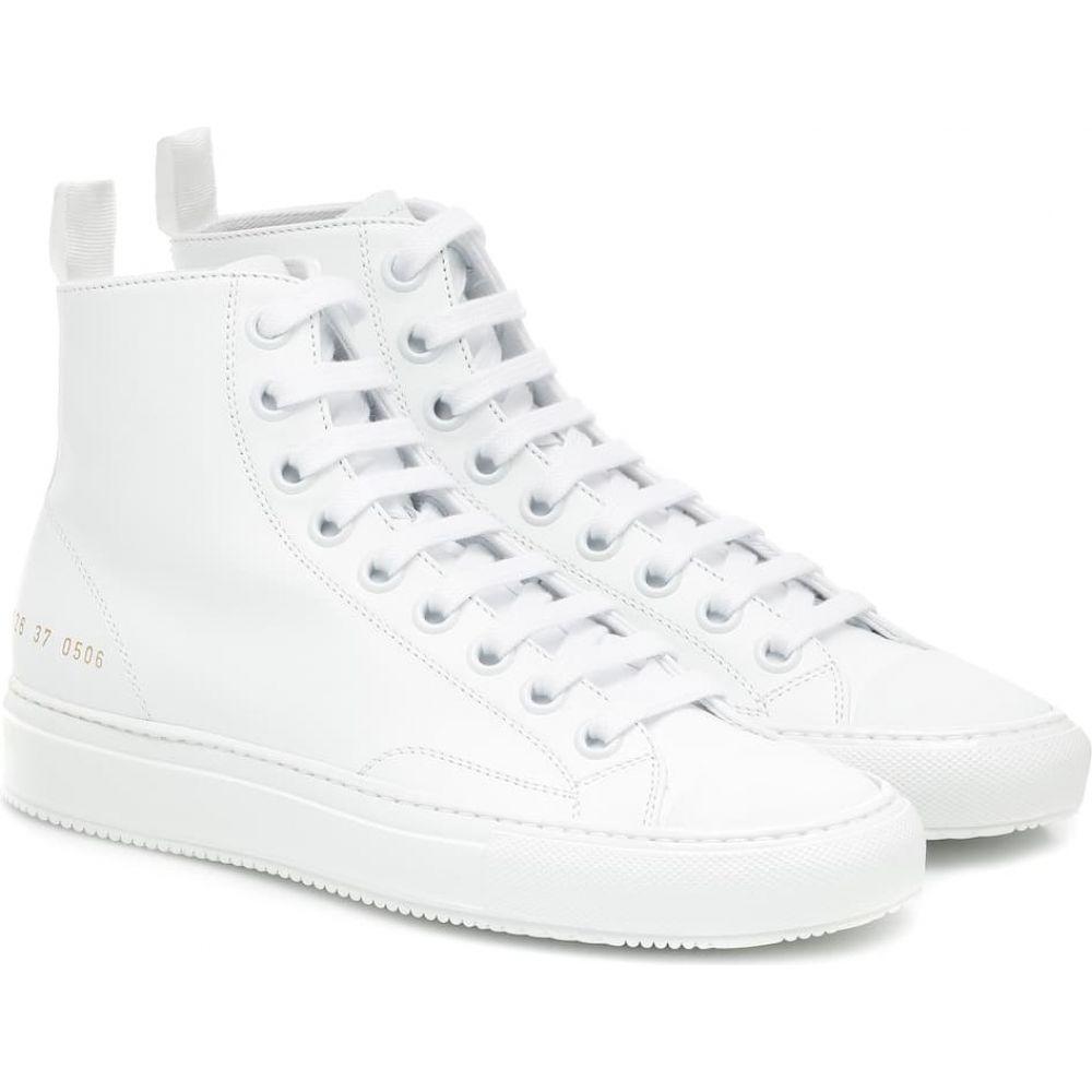 コモン プロジェクト Common Projects レディース スニーカー シューズ・靴【tournament high leather sneakers】White