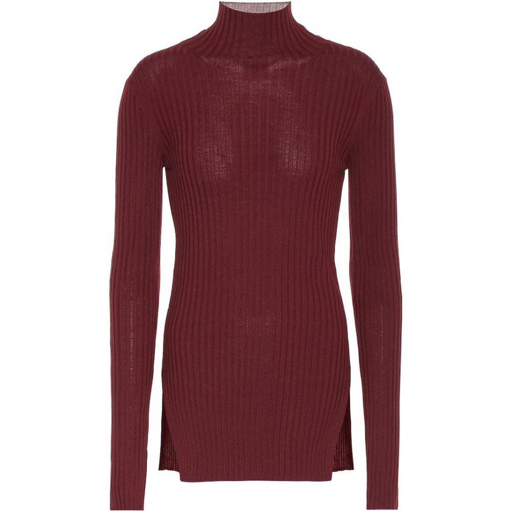プラン C Plan C レディース ニット・セーター トップス【wool turtleneck sweater】Red Purple