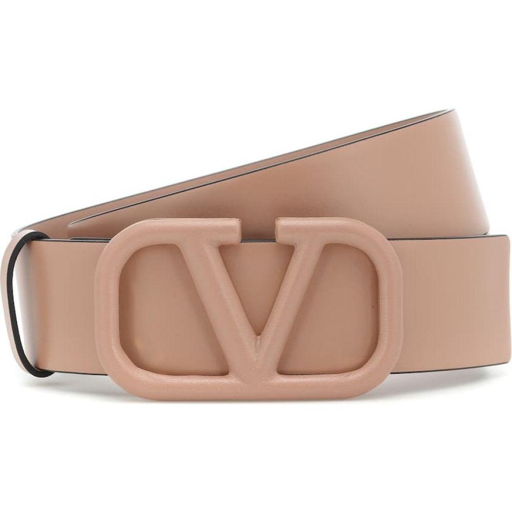 ヴァレンティノ Valentino レディース ベルト 【garavani vlogo leather belt】Rose Canelle