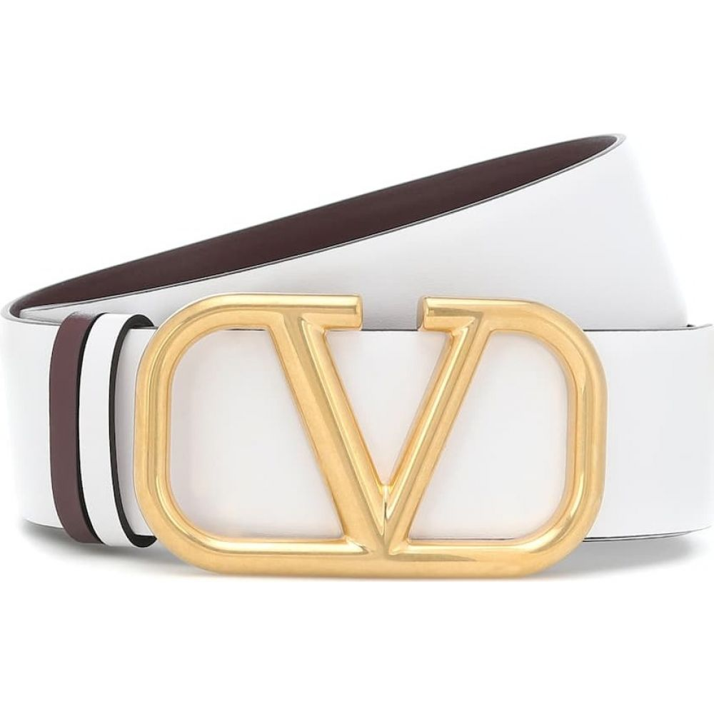 ヴァレンティノ Valentino レディース ベルト 【garavani vlogo reversible leather belt】Bianco Ottico/Rubin