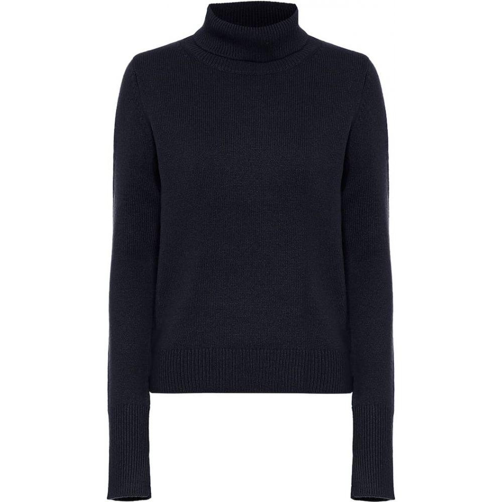 ジョゼフ Joseph レディース ニット・セーター トップス【cashmere turtleneck sweater】Navy