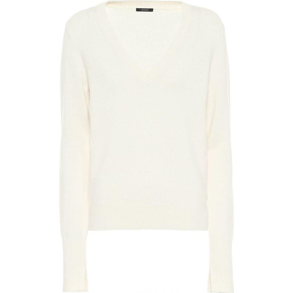ジョゼフ Joseph レディース ニット・セーター Vネック トップス【v-neck cashmere sweater】Ivory