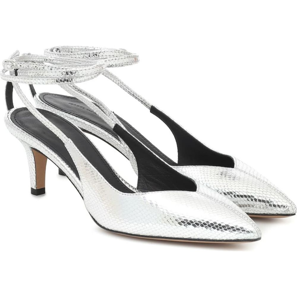イザベル マラン Isabel Marant レディース パンプス シューズ・靴【pasar snake-effect leather pumps】Silver