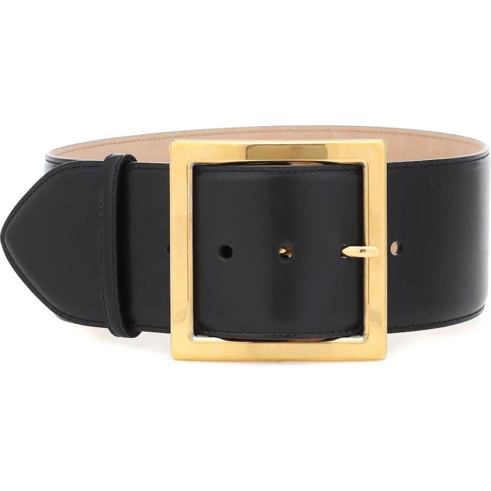 アレキサンダー マックイーン Alexander McQueen レディース ベルト 【leather belt】Black