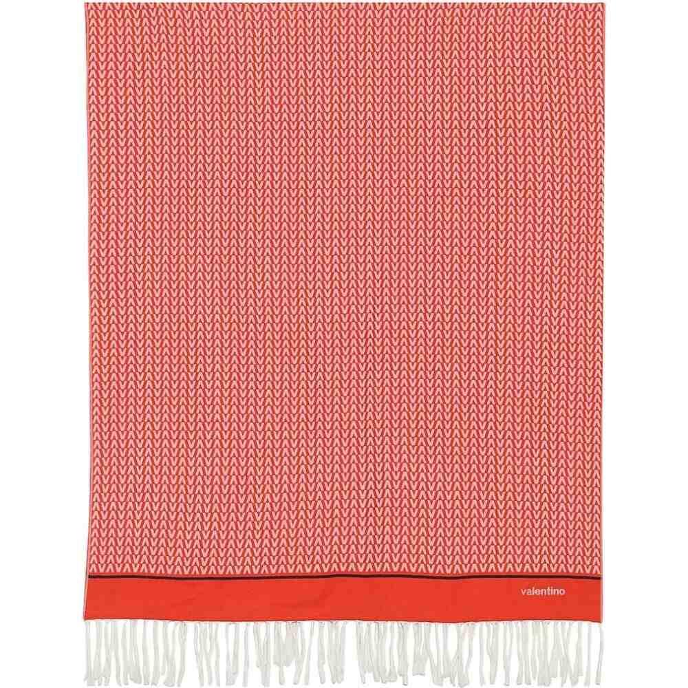 ヴァレンティノ Valentino レディース 雑貨 ブランケット【printed cotton-jacquard blanket】Rosso