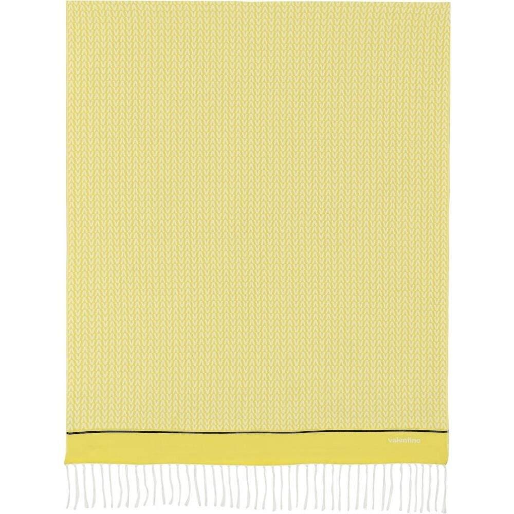 ヴァレンティノ Valentino レディース 雑貨 ブランケット【printed cotton-jacquard blanket】Giallo/Avorio