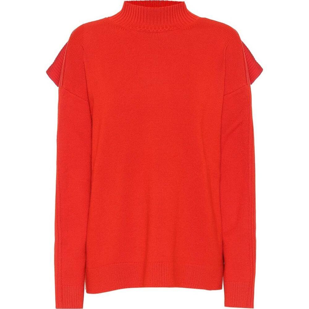 モンス レディース mockneck sweater】Code Red wool トップス【merino Monse ニット・セーター