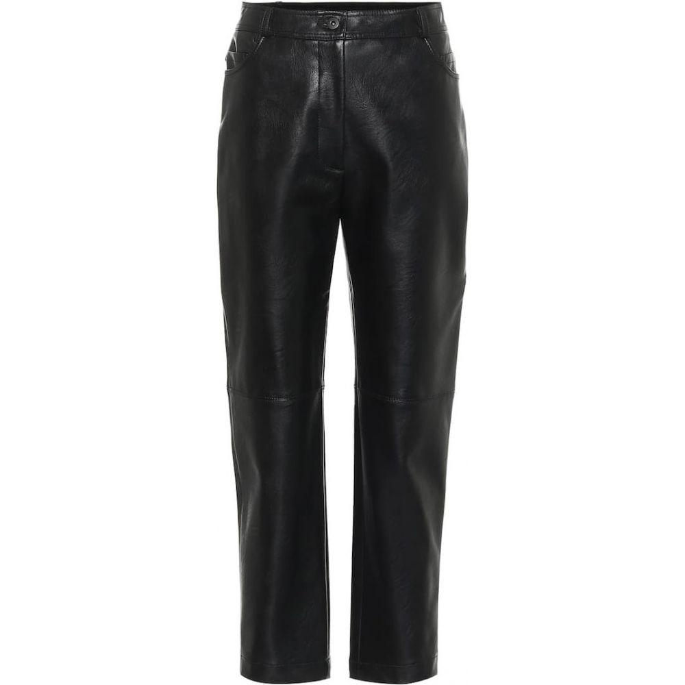 ステラ マッカートニー Stella McCartney レディース ボトムス・パンツ レザーパンツ【hailey high-rise faux leather pants】Black