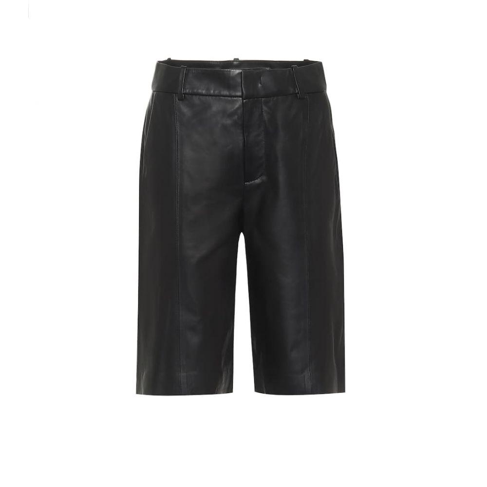 ヴィンス Vince レディース ショートパンツ バミューダ ボトムス・パンツ【high-rise leather bermuda shorts】Black