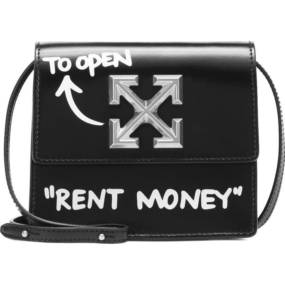 オフホワイト Off-White レディース ショルダーバッグ バッグ【jitney 0.7 leather crossbody bag】Black White