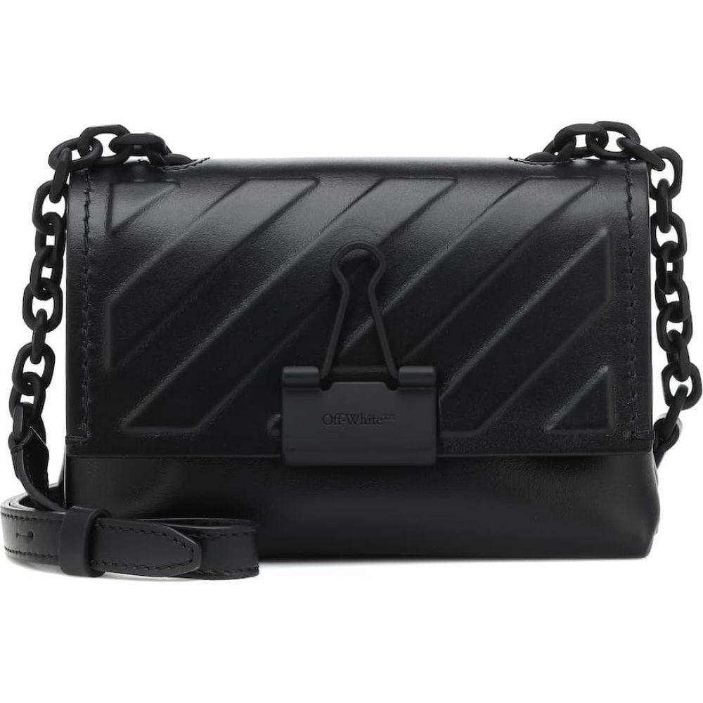 オフホワイト Off-White レディース ショルダーバッグ バッグ【binder clip small leather crossbody bag】Black No Color