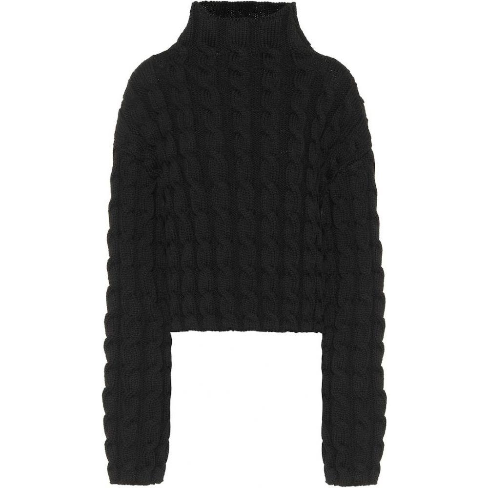 バレンシアガ Balenciaga レディース ニット・セーター トップス【cable-knit turtleneck sweater】Black