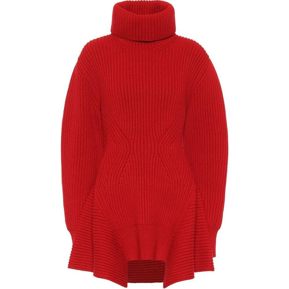 アレキサンダー マックイーン Alexander McQueen レディース ニット・セーター トップス【wool and cashmere turtleneck sweater】Lust Red