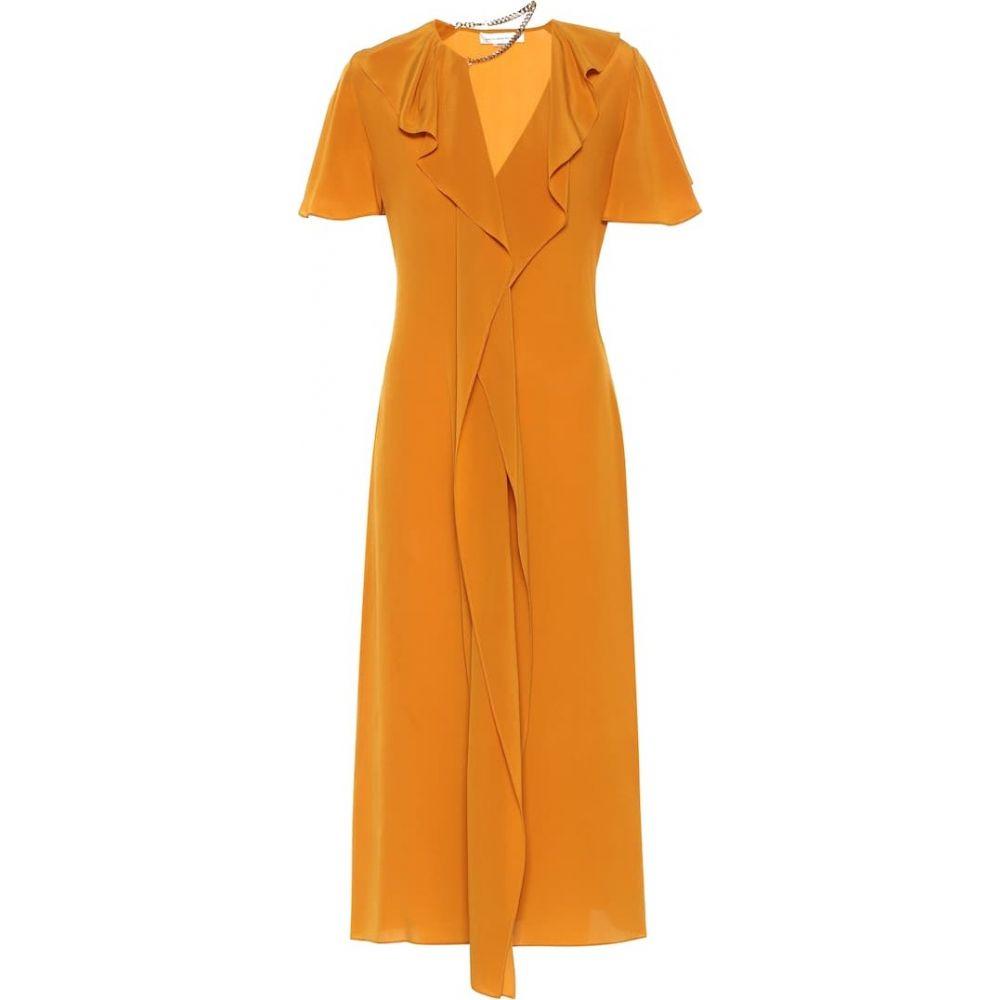 【時間指定不可】 ヴィクトリア ベッカム Victoria Beckham レディース ワンピース ワンピース・ドレス【silk crepe de chine dress】Amber, シホロチョウ 1c07902c
