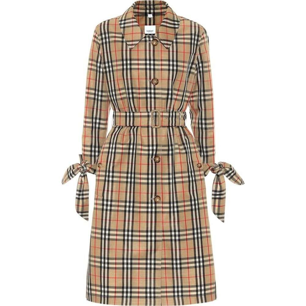 バーバリー Burberry レディース トレンチコート アウター【claygate vintage check trench coat】Archive Beige Ip Check