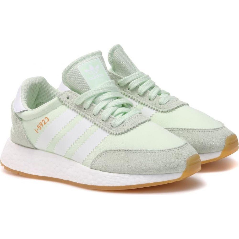 アディダス Adidas Originals レディース スニーカー シューズ・靴【i-5923 suede-trimmed sneakers】Green/Aero Green/White/Gum