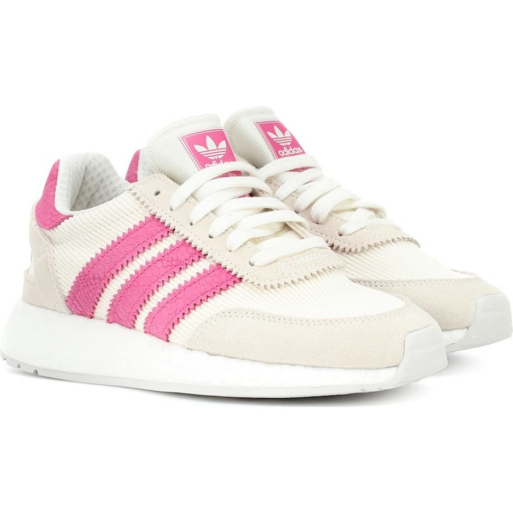 アディダス Adidas Originals レディース スニーカー シューズ・靴【i-5923 suede-trimmed sneakers】Off White/Ice Pink/Black