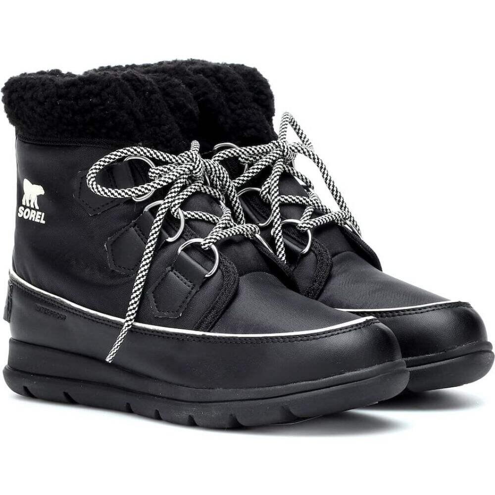carnival nylon Salt Sea Sorel シューズ・靴【explorer レディース ブーツ ソレル boots】Black