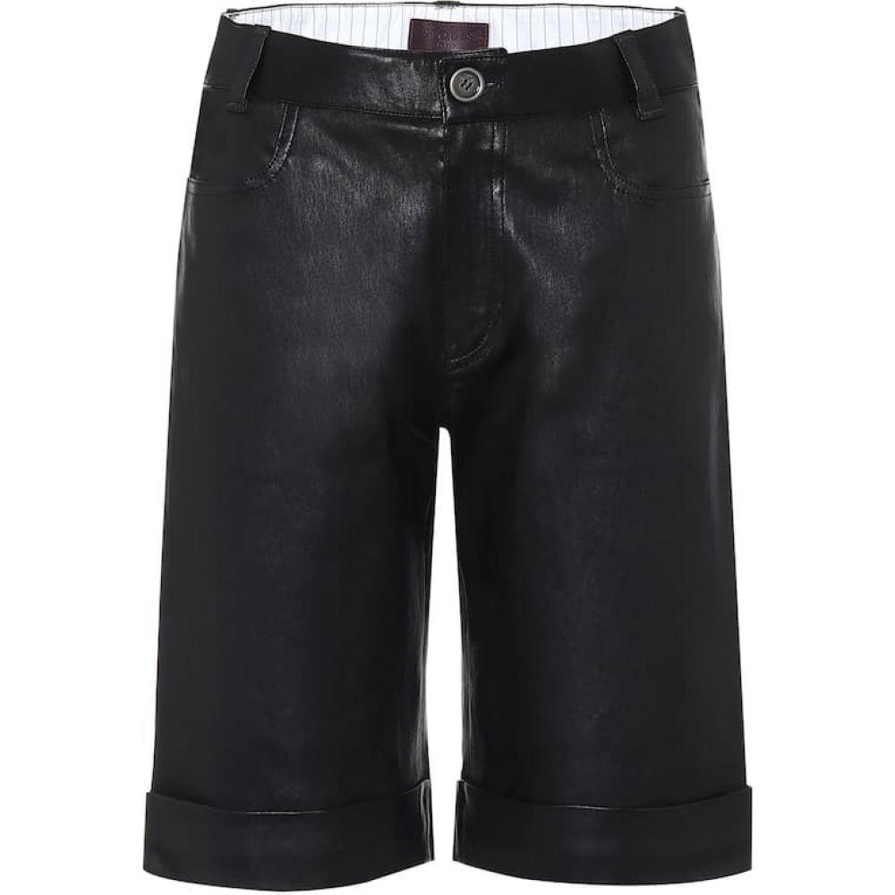 ストールス Stouls レディース ショートパンツ バミューダ ボトムス・パンツ【sophie leather bermuda shorts】Noir Light