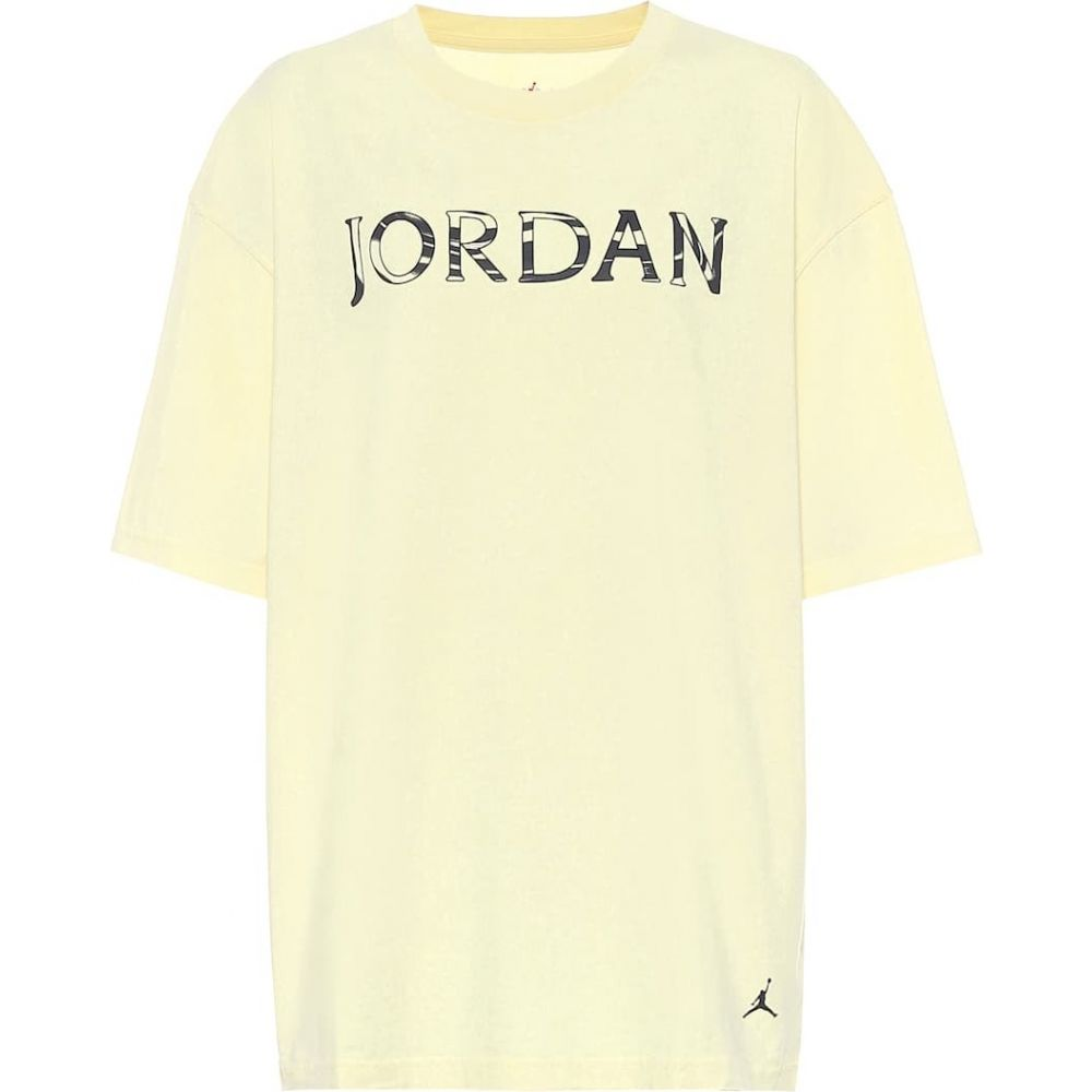 ナイキ Nike レディース Tシャツ トップス【jordan utility cotton-jersey t-shirt】Citron Tin