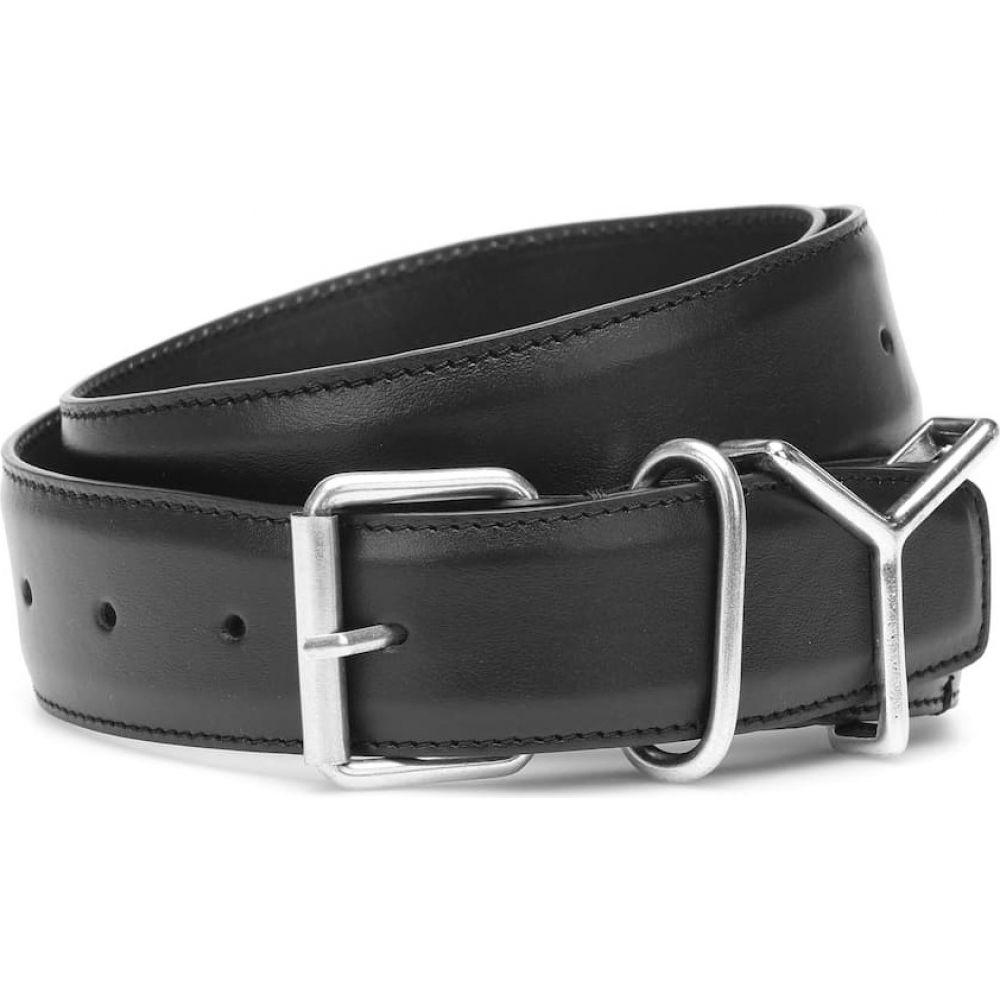 ワイプロジェクト Y/PROJECT レディース ベルト 【leather belt】Black