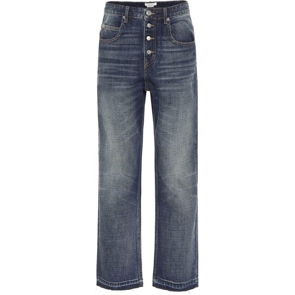 イザベル マラン Isabel Marant, Etoile レディース ジーンズ・デニム ボトムス・パンツ【high-rise straight jeans】Blue