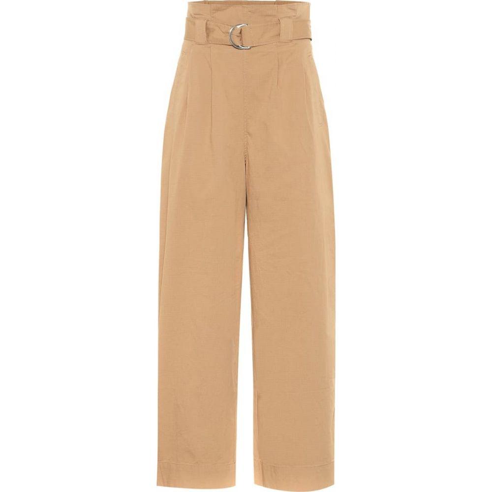 ガニー Ganni レディース ボトムス・パンツ 【wide-leg cotton paperbag pants】Tannin