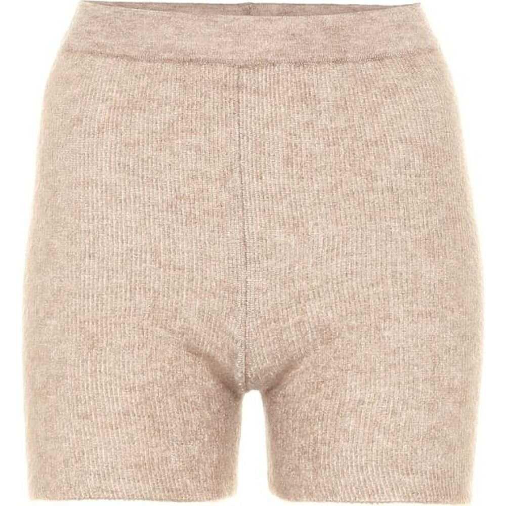 ジャックムス Jacquemus レディース ショートパンツ ボトムス・パンツ【le short arancia ribbed-knit shorts】Camel Stripes