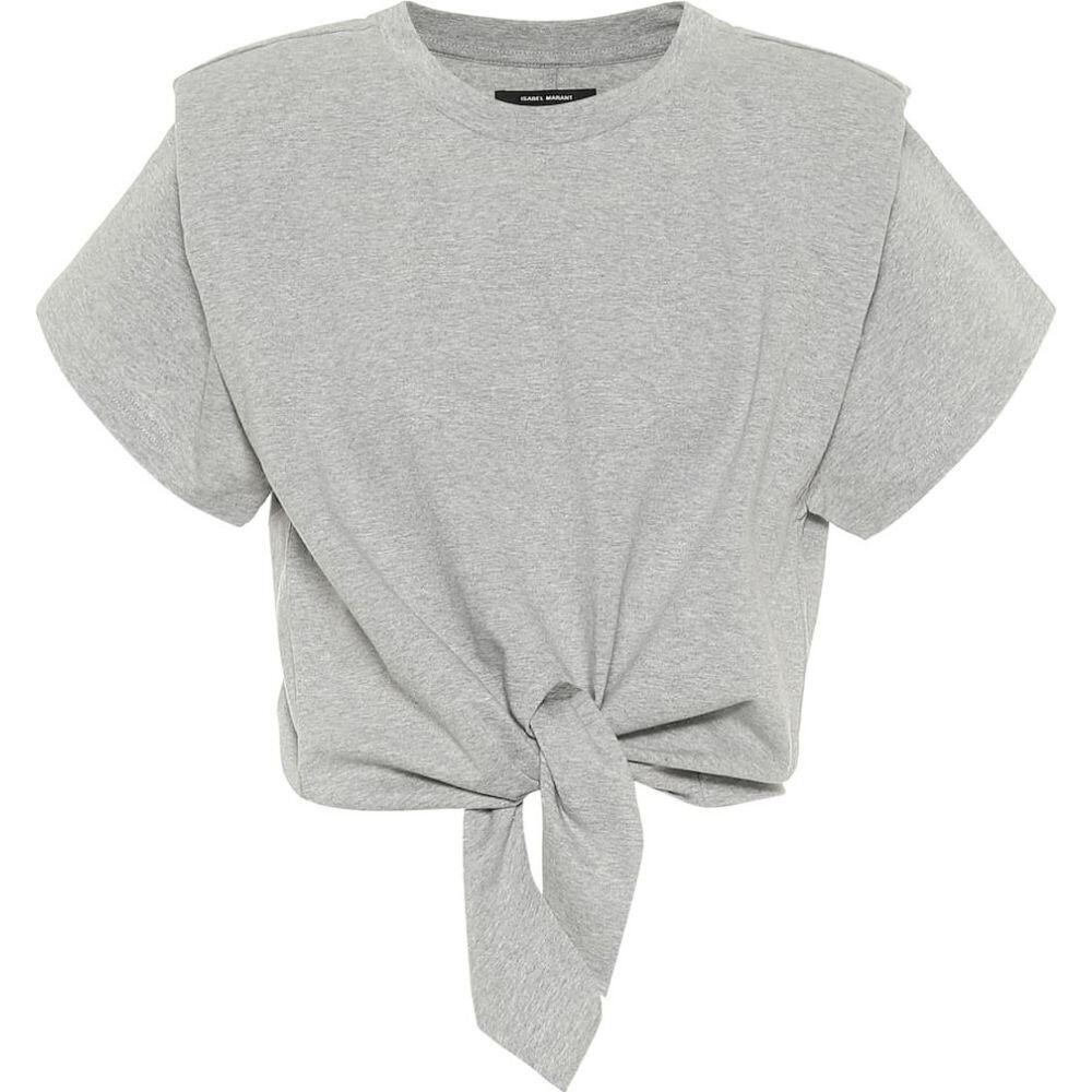 イザベル マラン Isabel Marant レディース ベアトップ・チューブトップ・クロップド トップス【belita cotton-jersey crop top】Grey