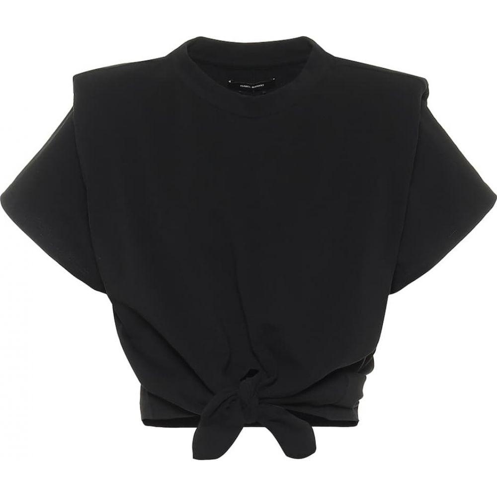 イザベル マラン Isabel Marant レディース ベアトップ・チューブトップ・クロップド トップス【belita cotton-jersey crop top】Black